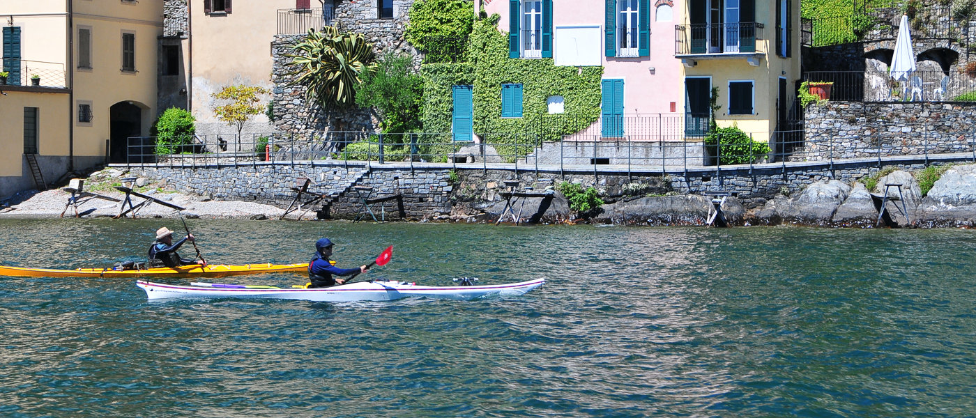 Kayak Gravedona lake Como